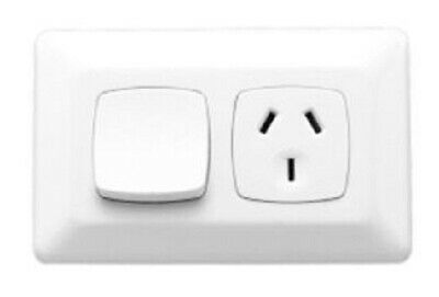 Clipsal PRESTIGE P2000 SINGLE SWITCHED POWER OUTLET 250V 10A 3-Pin Flat CREAM