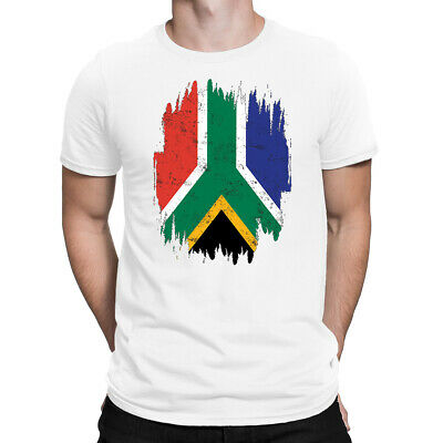 Cricket World Cup Mens T Shirt South Africa Flag Support Your Team