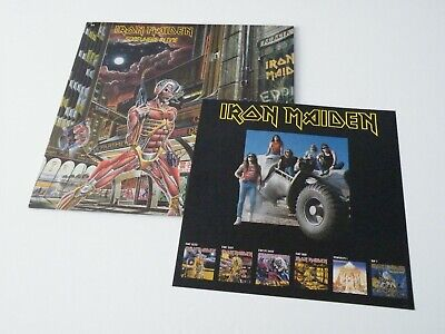 Iron Maiden 'Somewhere In Time' Lp Uk Emi Records 1986 Lp Picture Inner Flyer