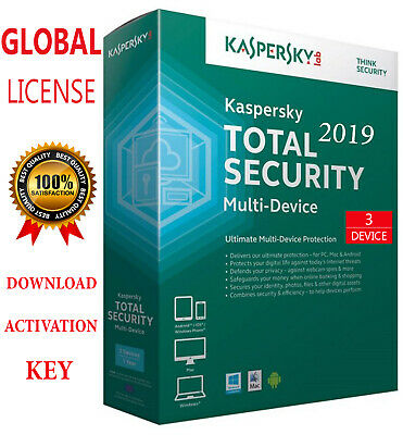 KASPERSKY TOTAL Security 2019 3 PC / 3 Device / 1 Year / GLOBAL - KEY 15.35$