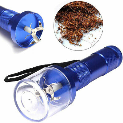Electric Aluminum Metal Grinder Herb Tobacco Spice Crusher Muller Cracker Blue