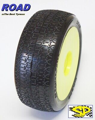 Gomme Tire 1/8 BUGGY SP RACING ROAD COMPETION A incollate SP09020 (1cp)