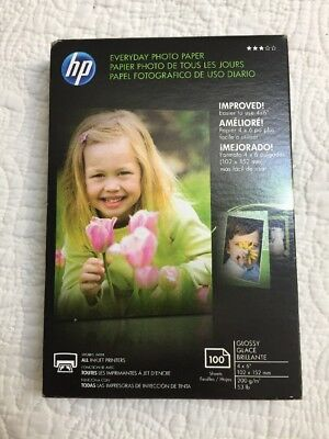"""HP Everyday Photo Paper Glossy 4"""" x 6"""" (100 Sheets ea.) CR759A Inkjet Printers"""