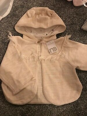 Mothercare Hooded Cardigan Cream With Ears 9-12 Months