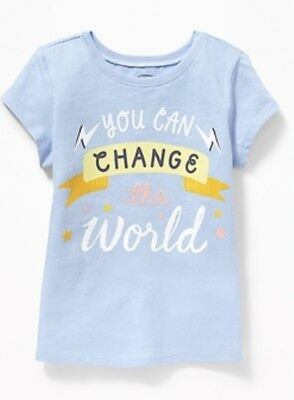 old navy baby girl tshirt, 18-24 months, blue, NWT