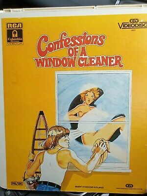 CONFESSIONS OF A WINDOW CLEANER - Videodisc (CED) FREE UK P&P! RARE