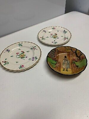 Pair Of Side Plates By Clarice Cliff And Royal Doulton Gaffers Dish