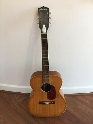 Made In USA Vintage 1960's Harmony H-162 Acoustic Guitar.