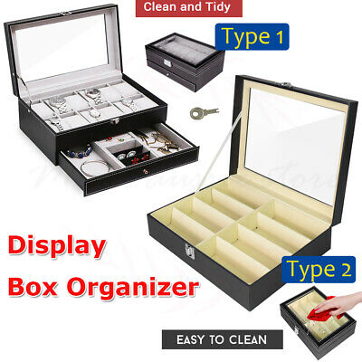 Display Box Cases Watch Sunglasses Eyeglasses Glasses Storage Organizer Holders