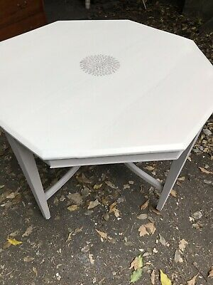 Octagonal French Style Antique Painted Table.