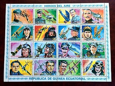 airplanes - 12 cancelled stamps Equatorial Guinea