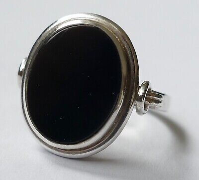 Art Deco Ring Onyx Cabochon 835 Silber Vintage 30er ring silver