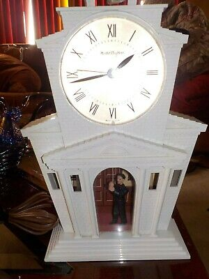 VINTAGE MASTER CRAFTER'S Church With Bell Ringer Tower Clock