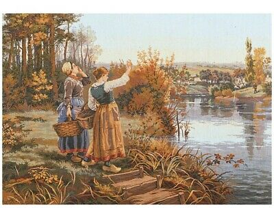 """""""Forest"""" Printed Needlepoint Tapestry  Canvas 14261"""