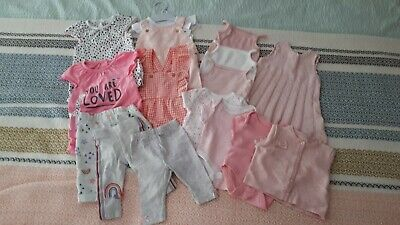 Bundle 15 x Baby Girl Babygrows, leggings   Newborn / First Size / Up To 1 Month