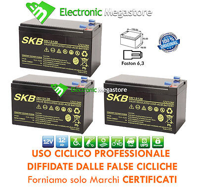 KIT BATTERIE ULTRACELL 36V 12Ah GEL AGM CICLICHE DEEP-CYCLE BICI ELETTRICA MOTO