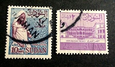 2 old used stamps north Africa
