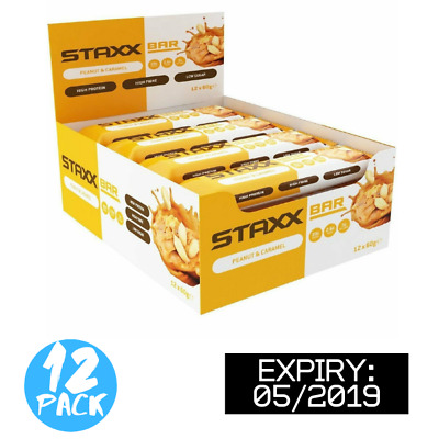 Staxx Bar High Protein Snack Bar (Peanut Butter) (Box of 12) (BBE 05/19)