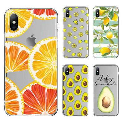 Ultra-thin Fruit Pattern Soft Silicone Clear Case Cover For iPhone 78 Plus X XSM