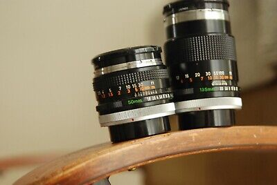 Canon FD 50mm F1.8 and 135mm F3.5 lenses Camera Lens for Canon FD