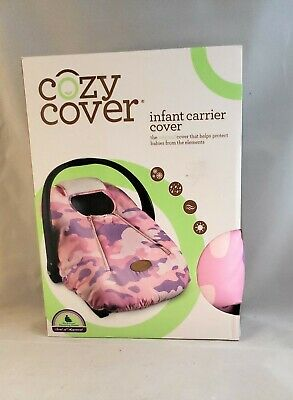New Cozy Cover - Infant Car Seat Cover (Pink Camo) Weatherproof Soft Fleece