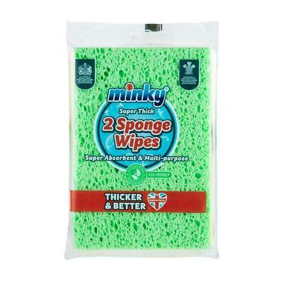 Minky Extra Thick Cellulose Sponge Wipes, Pack Of 2 - Free Shipping