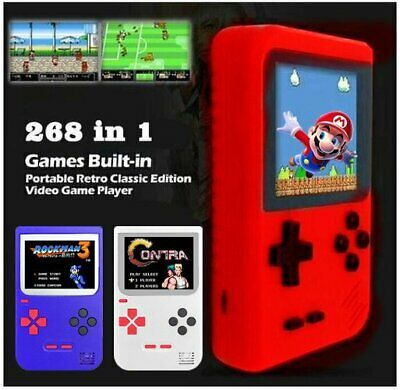 Retro LCD Mini Handheld Game Console Built-in 268 Classic Games (US Seller, NEW)