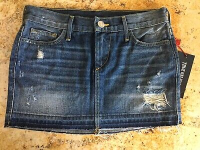 c52703bce8fc True Religion Womens Size 24 Denim Cut Off Mini Skirt Destroyed Made In Usa  Nwt.