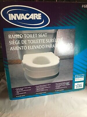 Invacare #685 NEW Raised Toilet Seat No Tool Required Supports up to 250 Lbs.