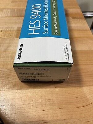 Hanchett Entry Systems HES 9400 613 Strike ASSA ABLOY Hes Sealed New  Bronze