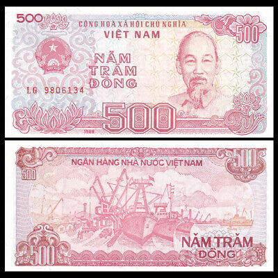 LOT 1000 PCS,Vietnam 500 DONG paper money,1988 edition,Rare commemorative coin