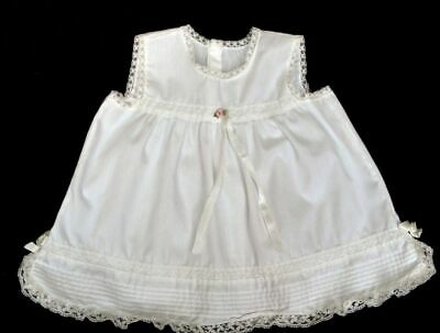 Vintage Her Majesty Girls Doll Slip Petticoat White Cotton Ruffle Lace 12 Month