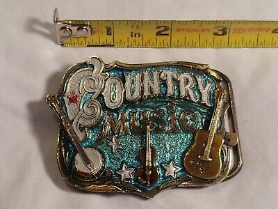 Vintage The Great American Buckle Co. Country Music Belt Buckle 1982