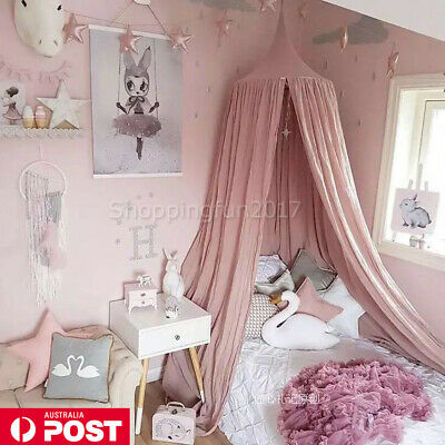 Kids/Baby Bedding Cotton Round Dome Bed Canopy Netting Bedcover Mosquito Net X