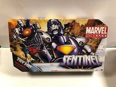 MISB Marvel Universe 16 inch SENTINEL Variant Purple with Wolverine 3.75 scale