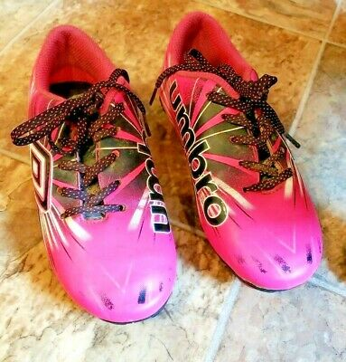 c852c26c8 UMBRO SOCCER SHOES Cleats Girls 4 Youth Big Kids Pink Black Lace Up ...
