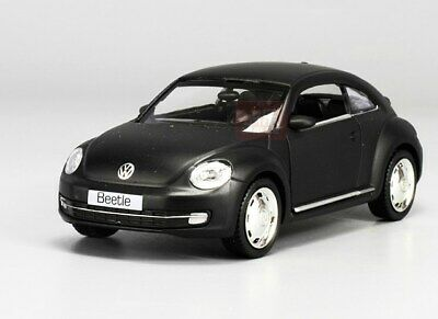 New Beetle Volkswagen Model Cars Toys 1:36 Collection Matte Black Alloy Diecast