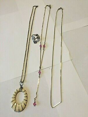 3 Sterling silver necklaces