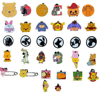 Pooh & Friends Themed 5 Disney Trading Pins ~ Brand NEW