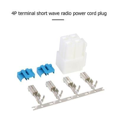 4-Pin Power Connector Plug Kit For Icom IC-7000 IC-7100 IC-7400 IC-7600 Radio