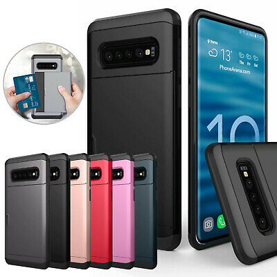 For Samsung Galaxy S10 5G S10 Plus S10e Case Hybrid Slide Wallet Card Slot Cover