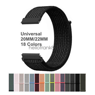Universal Quick Release 20mm 22mm Woven Nylon Sport Loop Cinturino Watch Strap