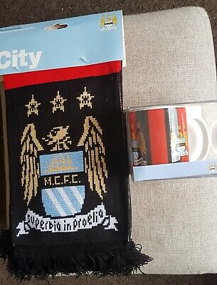 MCFC Manchester City Official  Scarf & MUG both new free postage