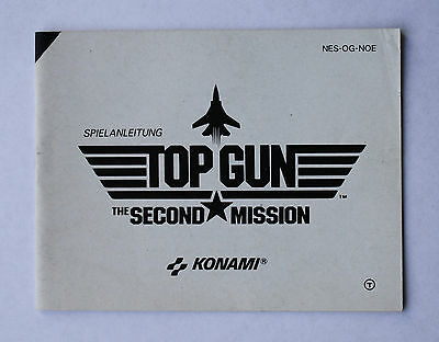 Top Gun Second Mission -- Nintendo NES -- Manual (NES-OG-NOE)