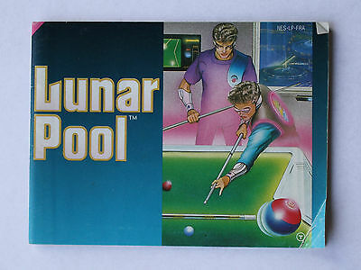 Lunar Pool -- Nintendo NES -- Manual (NES-LP-FRA)