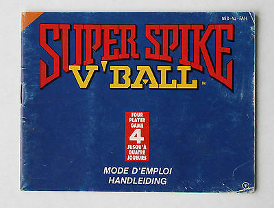 Super Spike V'Ball -- Nintendo NES -- Manual (NES-VJ-FAH)