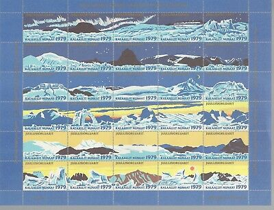 Greenland 1974-2008 Christmas Seal Complete Sheets (39 = 1200 Seals) Mnh