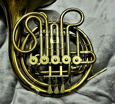 Vintage double descant in F/high F GEBR ALEXANDER MAINZ french horn