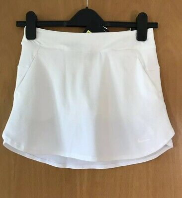 NIKE Girls WHITE golf SKIRT Size S 8-10 Yrs DRIFIT Bnwt RRP £39.95