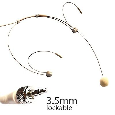 Beige Headset Microphone for Sennheiser Wireless 3.5mm (1/8in.) TRS Connector